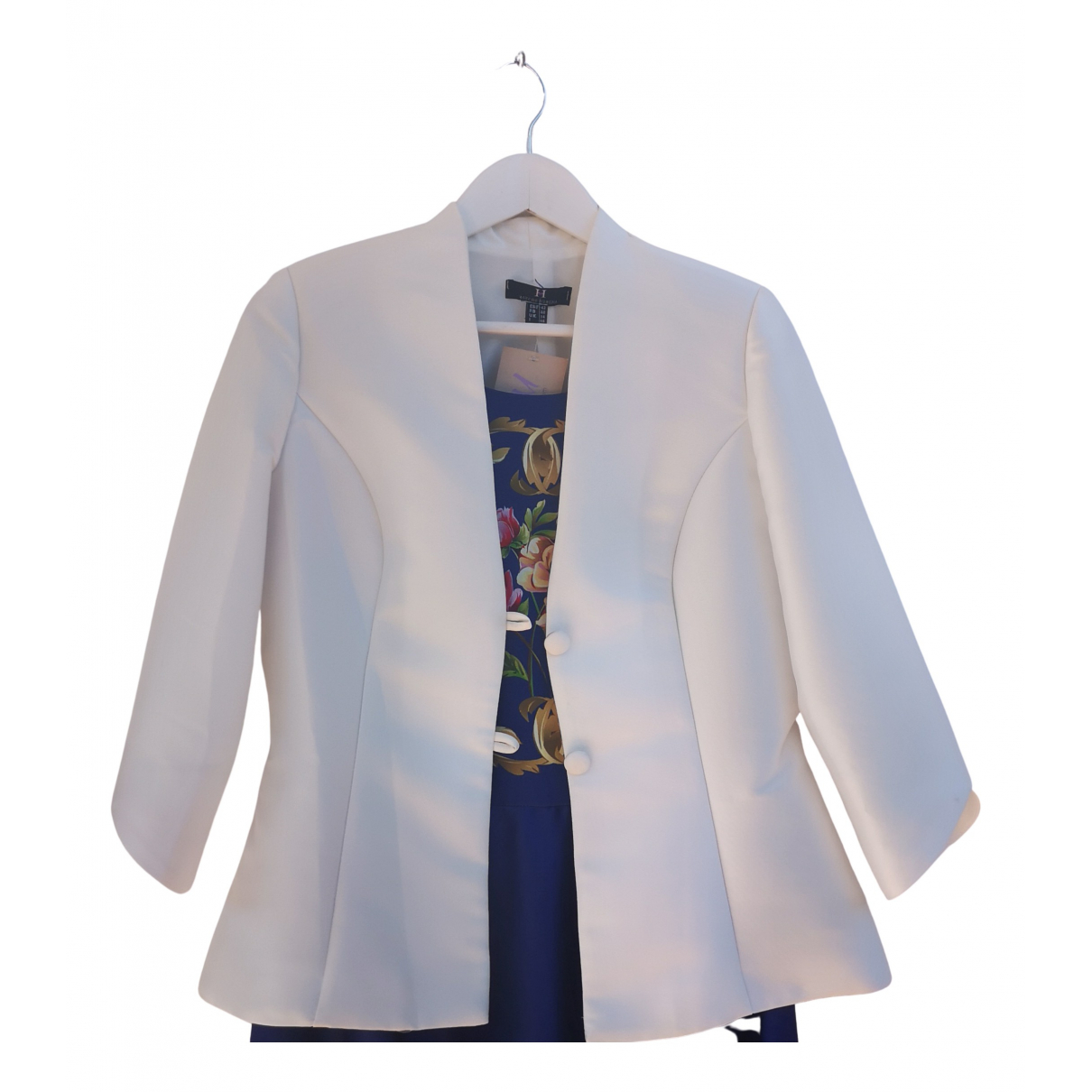 Non Signé / Unsigned N White jacket for Women 42 FR