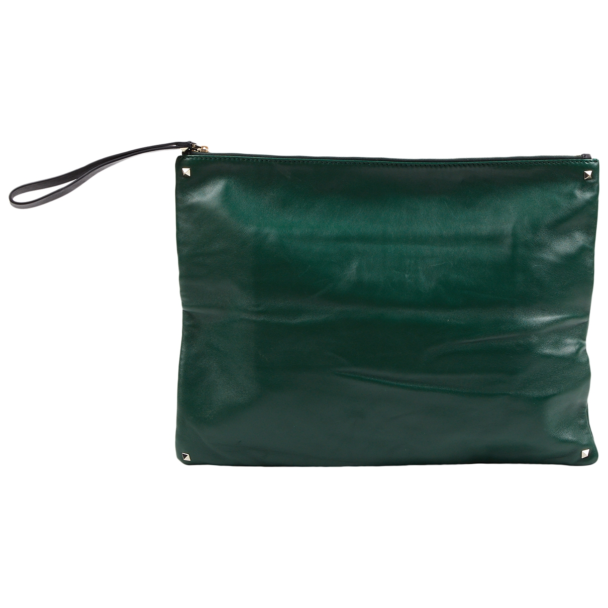 Valentino Garavani \N Green Leather Small bag, wallet & cases for Men \N