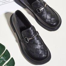 Geflochtene Loafers mit Horsebit Dekor