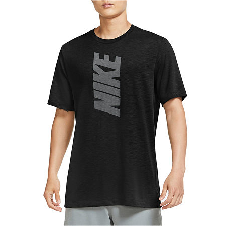 Nike-Big and Tall Mens Crew Neck Short Sleeve Moisture Wicking T-Shirt, Large Tall , Black