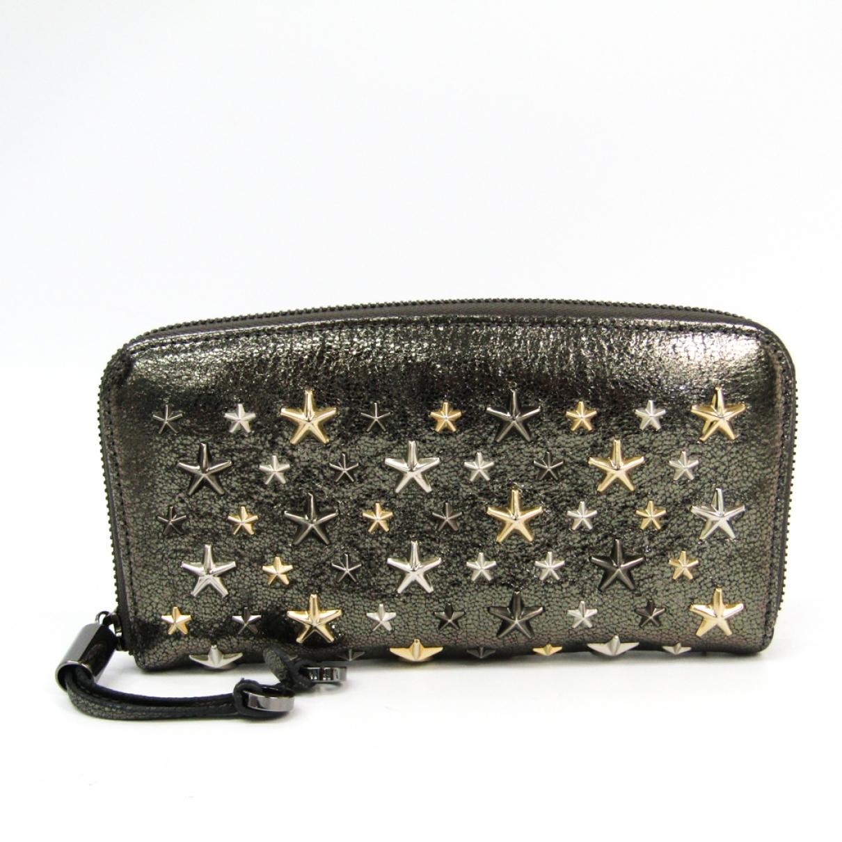 Jimmy Choo \N Grey Leather wallet for Women \N