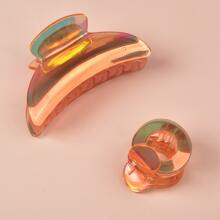 2pcs Holographic Hair Claw
