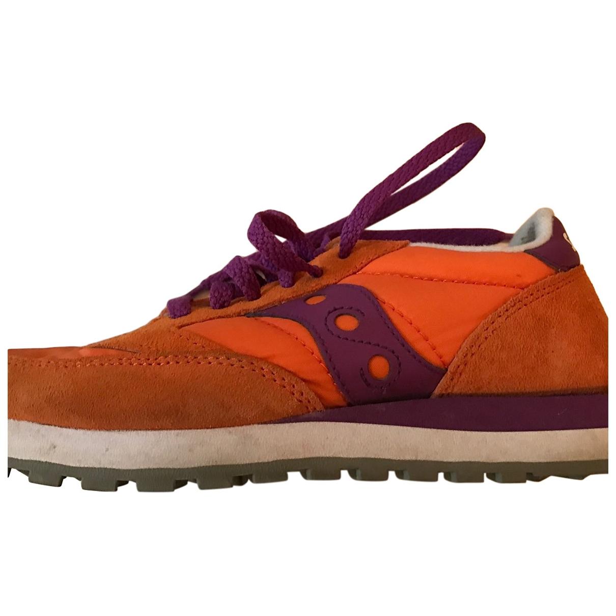 Saucony - Ballerines   pour femme en toile - orange