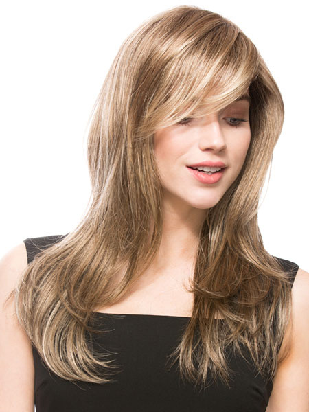 Milanoo Lino fibra rizada larga peluca para las mujeres