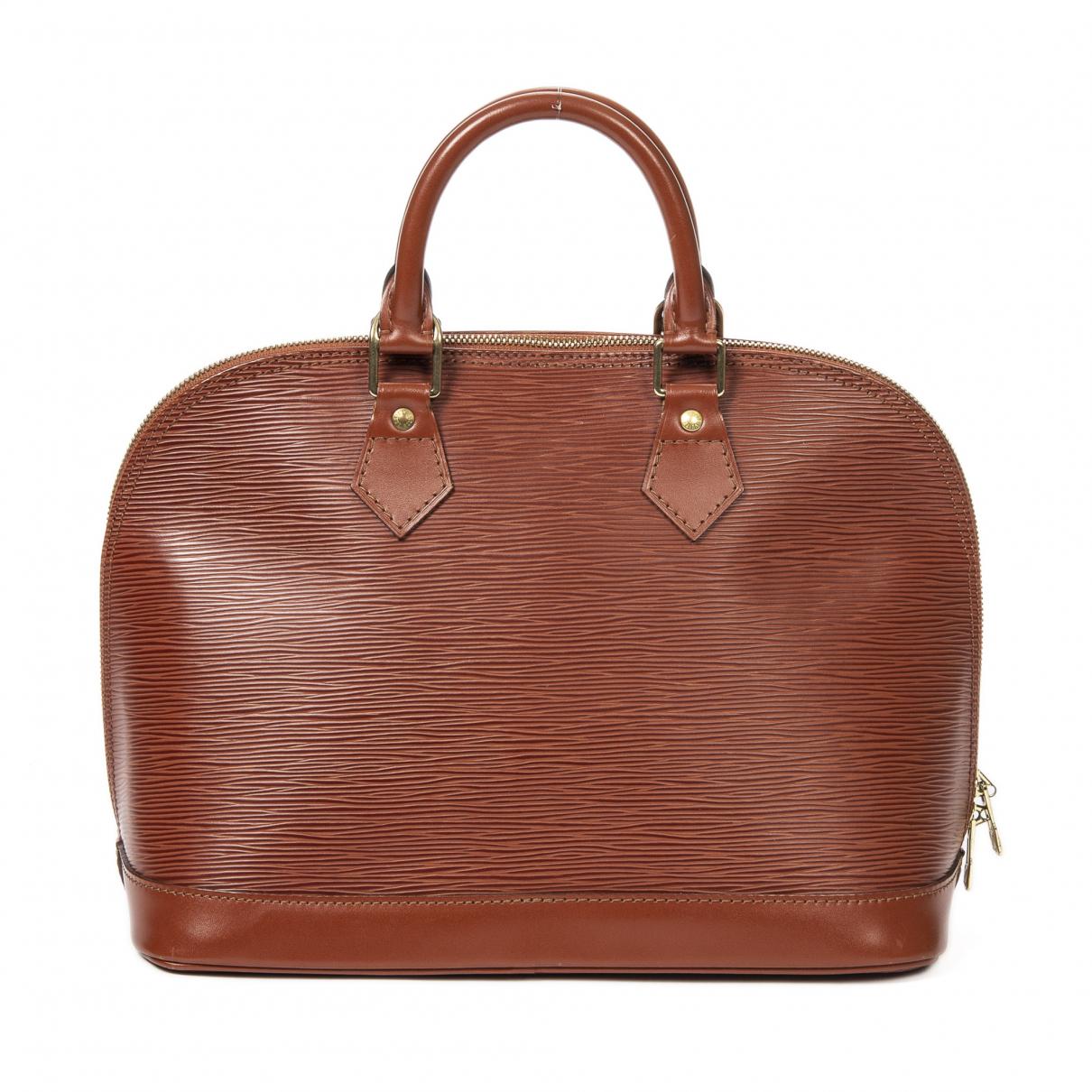 Louis Vuitton - Sac a main Alma pour femme en cuir - kaki