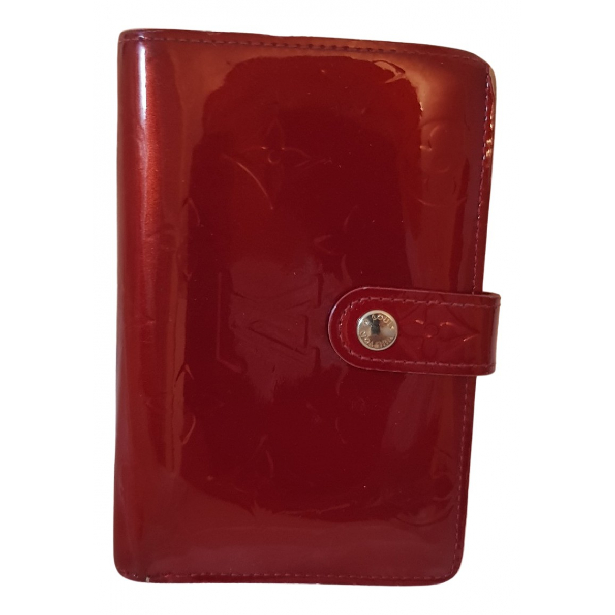 Louis Vuitton - Portefeuille   pour femme en cuir verni - rouge