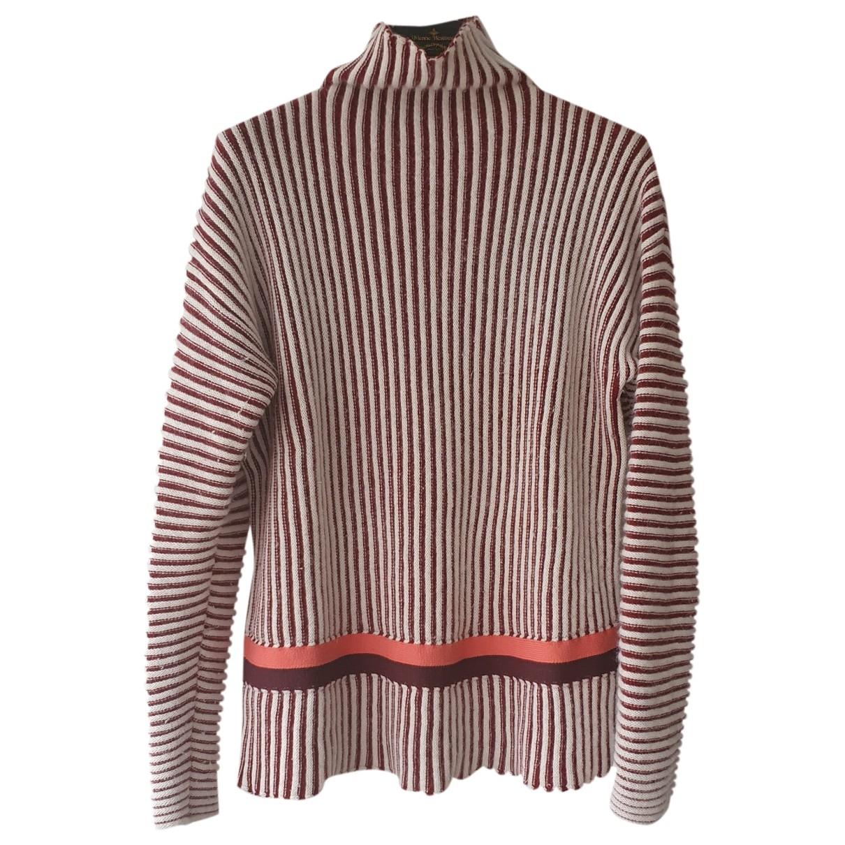 Longchamp - Pull   pour femme en laine - bordeaux