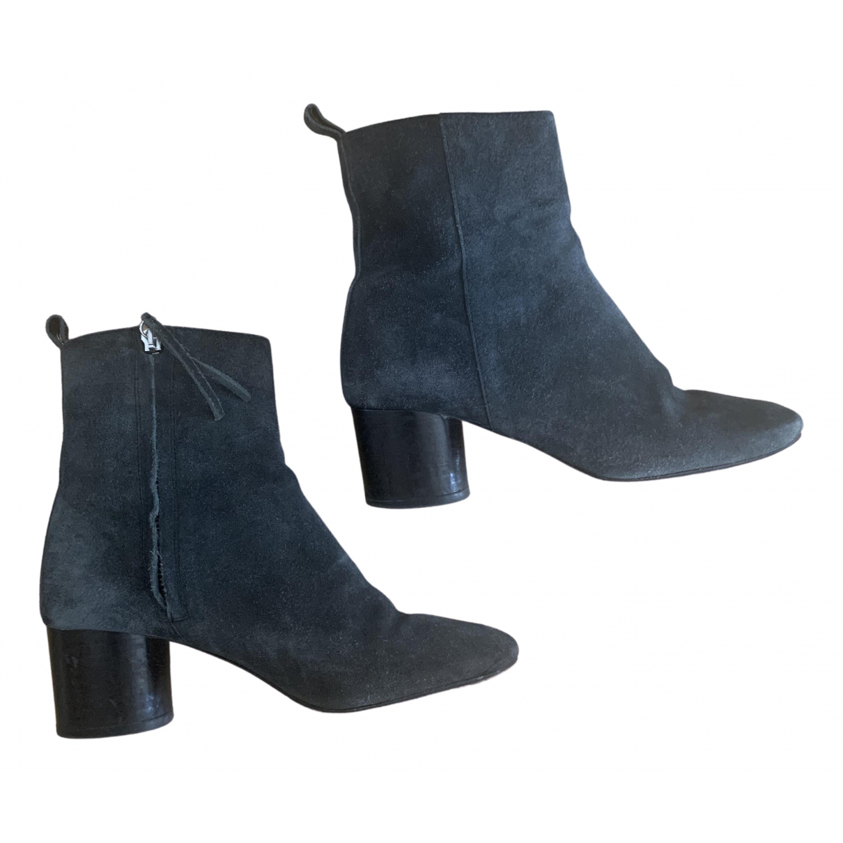 Isabel Marant Deyissa Grey Suede Ankle boots for Women 37 EU