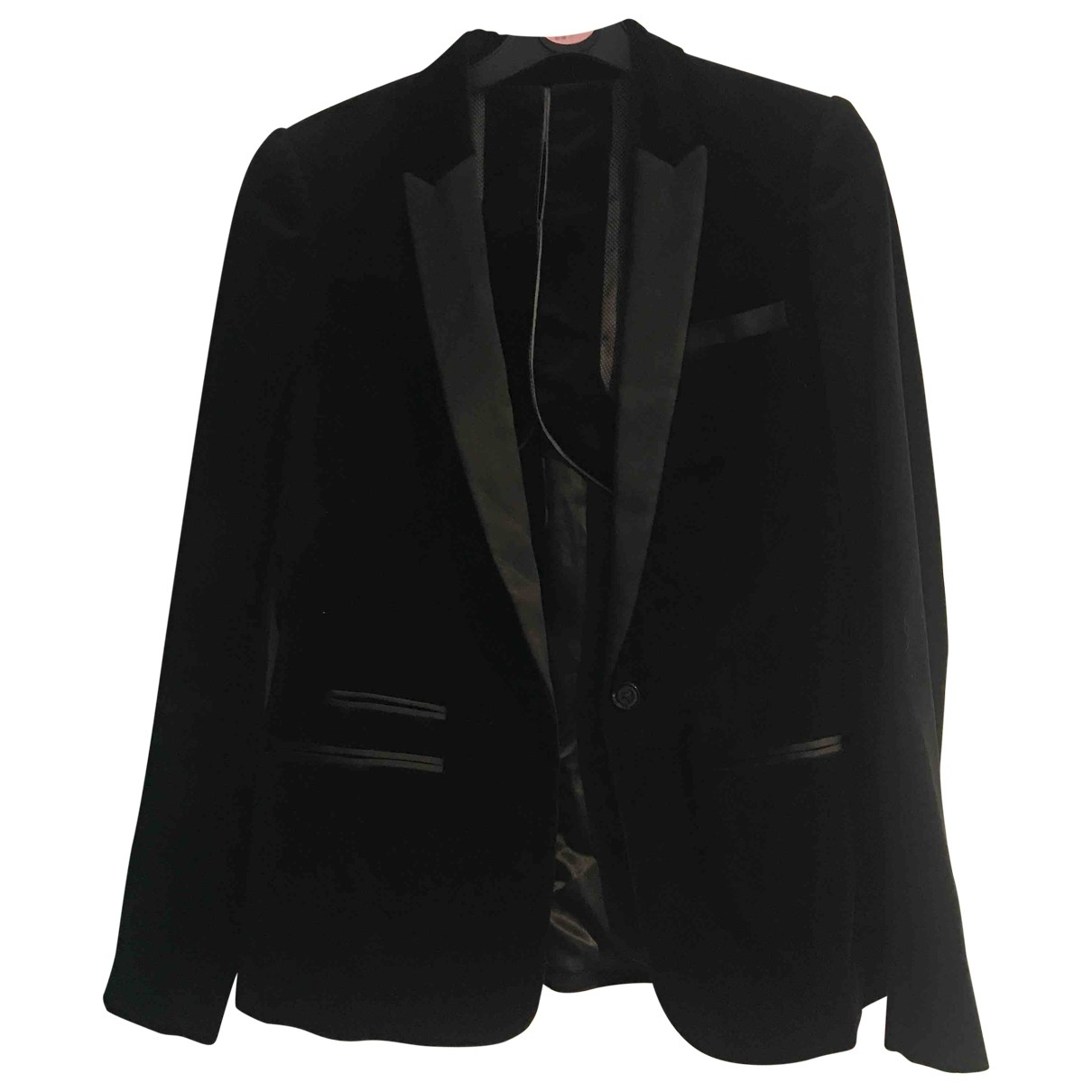 Massimo Dutti \N Black Velvet jacket for Women 8 UK