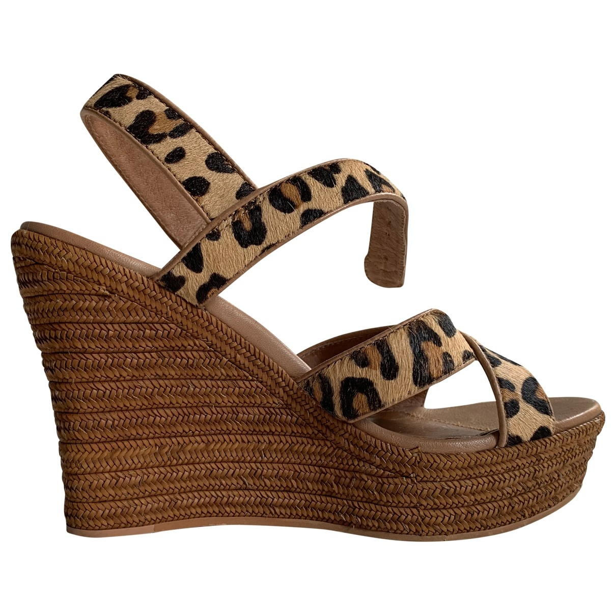 Ugg - Sandales   pour femme en cuir - multicolore