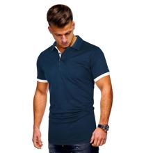 Polo Shirt mit Kontrast und Manschetten