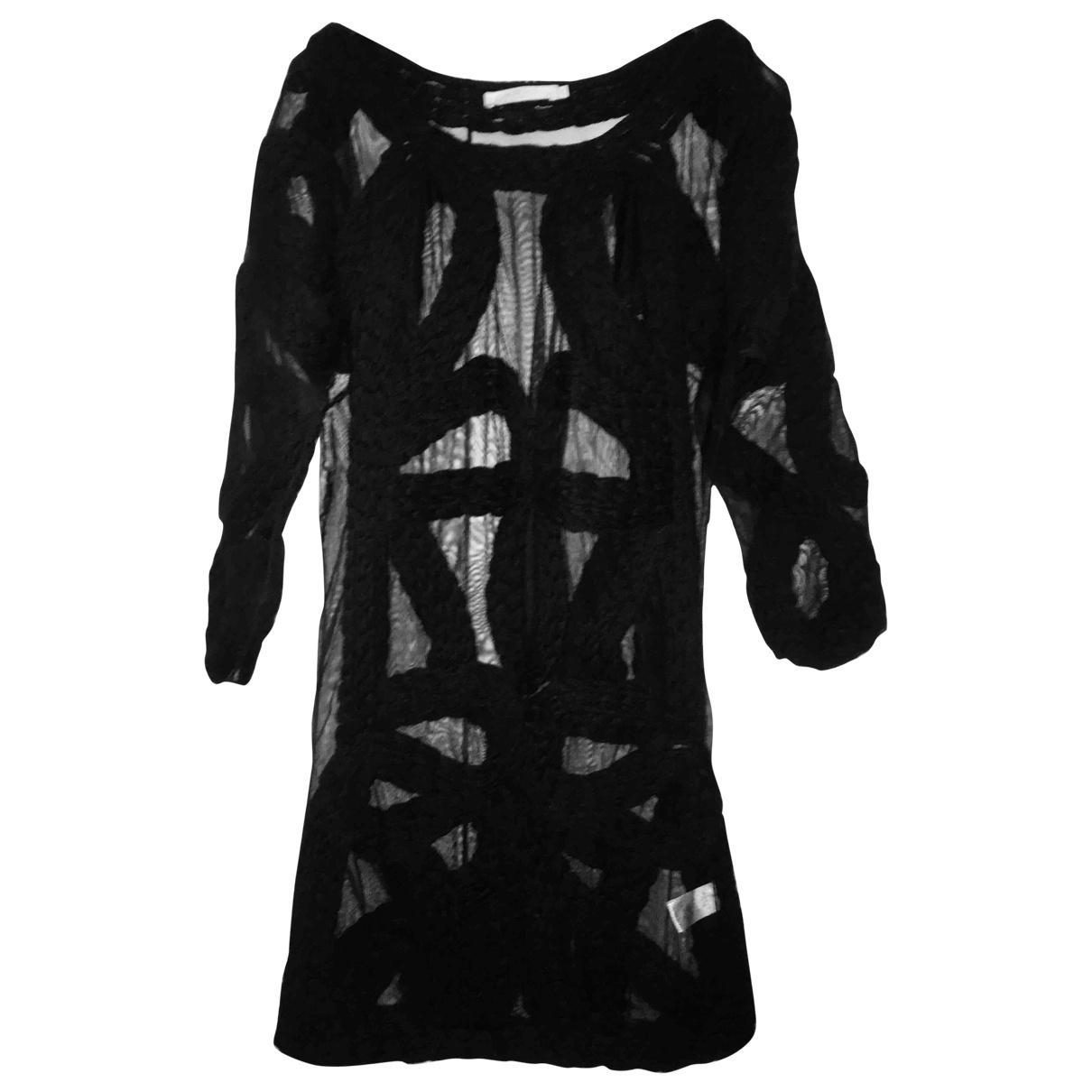 Amen Italy - Robe   pour femme en laine - noir
