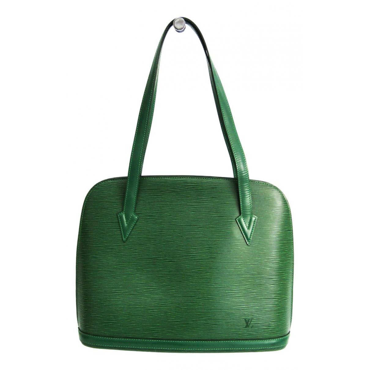 Louis Vuitton - Sac a main Lussac pour femme en cuir - vert