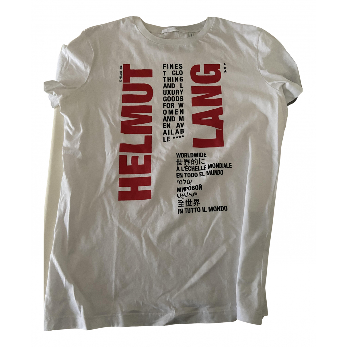 Helmut Lang N White Cotton  top for Women 44 IT