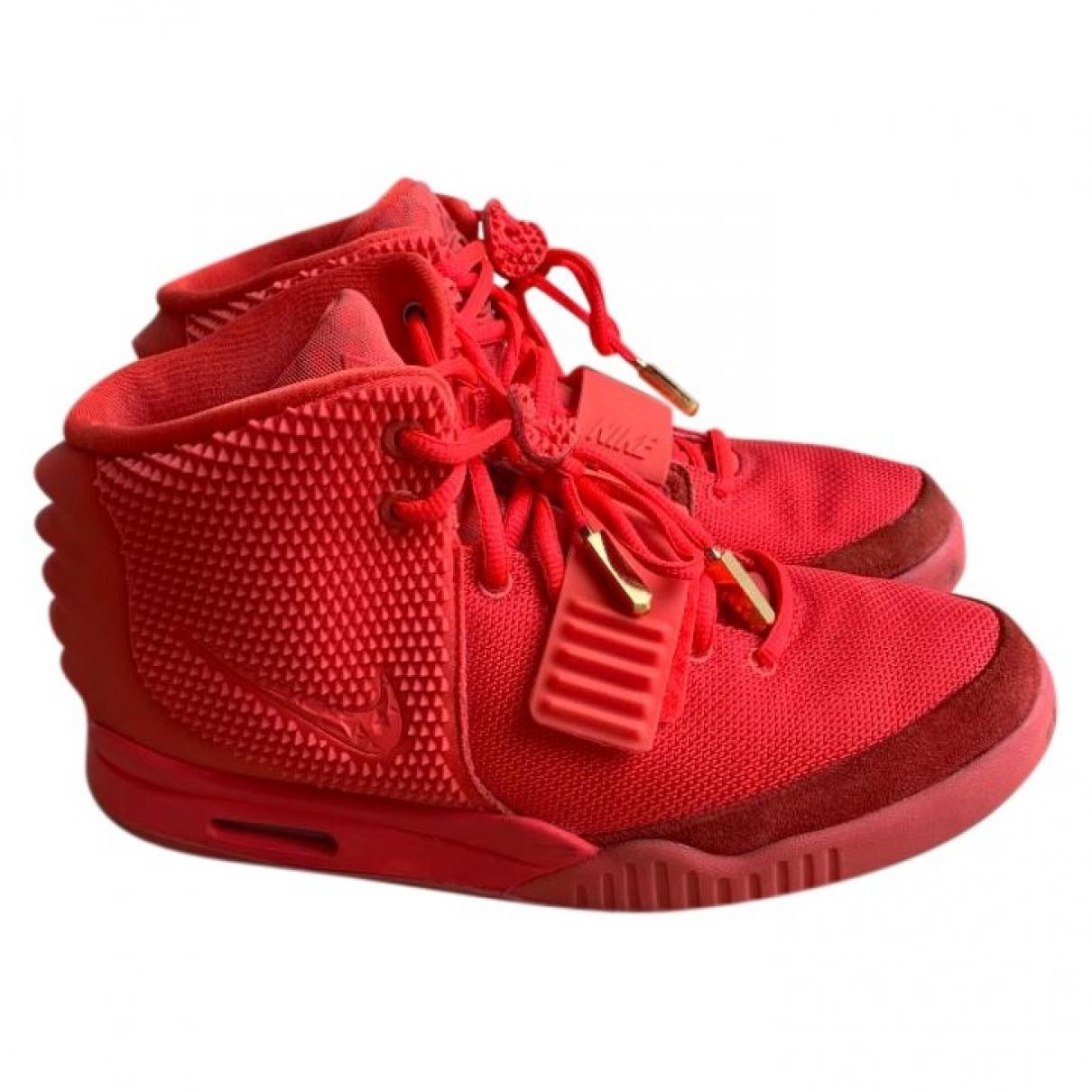 Yeezy X Nike - Baskets   pour homme en toile - rouge