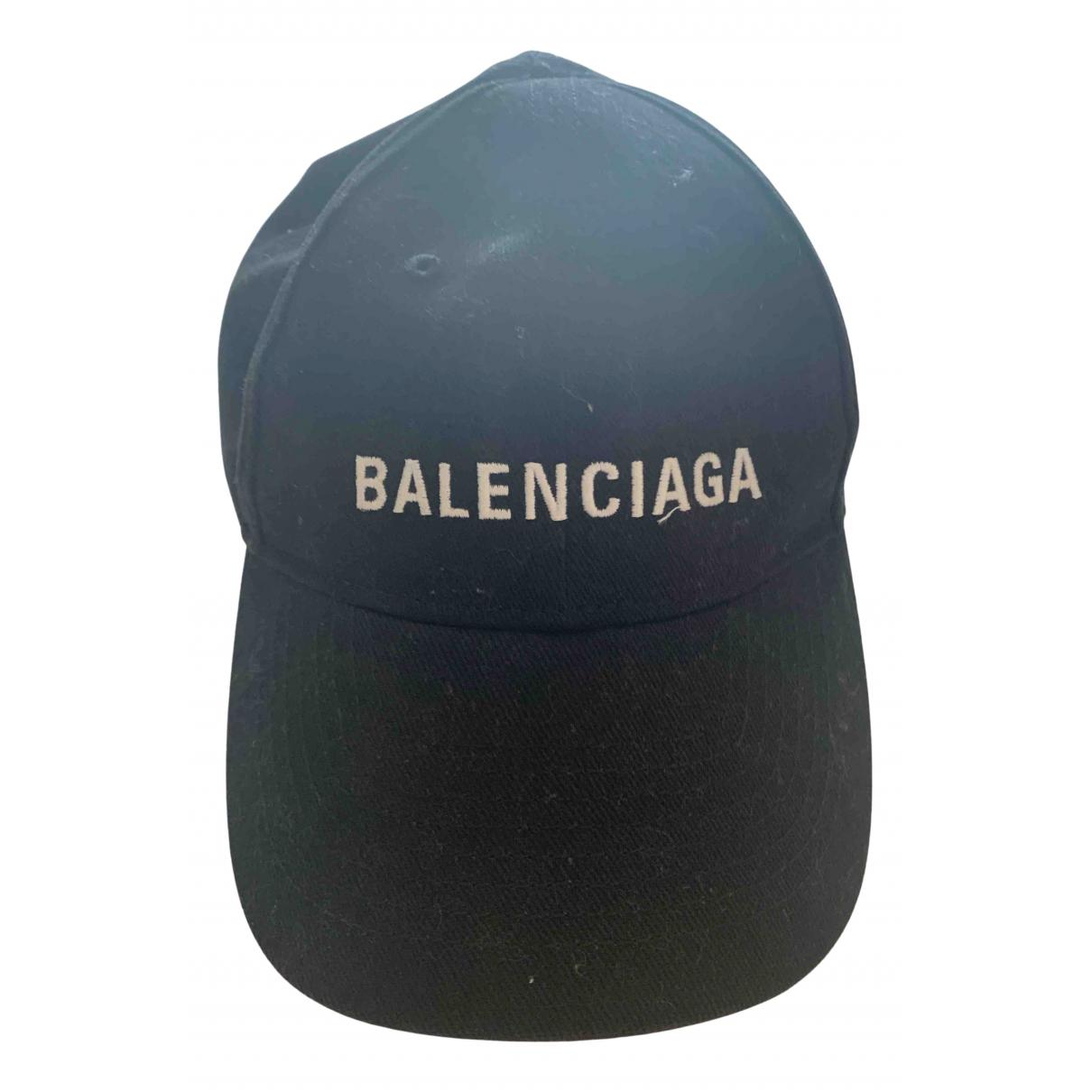 Balenciaga \N Hut in  Schwarz Baumwolle