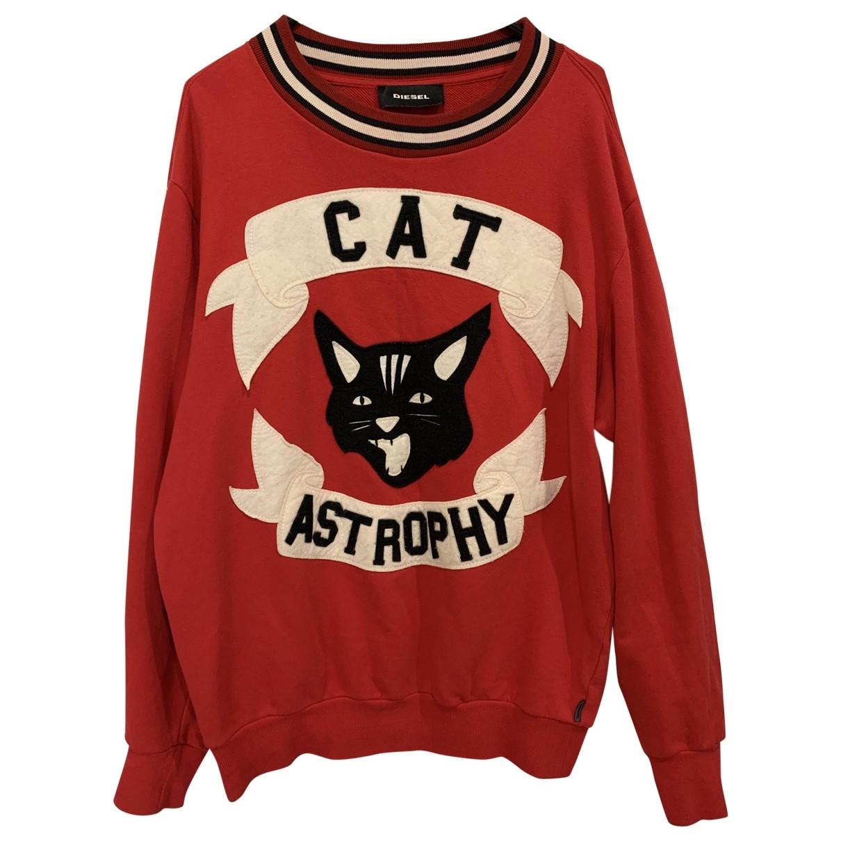 Diesel \N Pullover.Westen.Sweatshirts  in  Rot Baumwolle