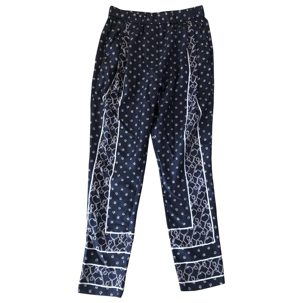 3.1 Phillip Lim \N Blue Silk Trousers for Women 2 US