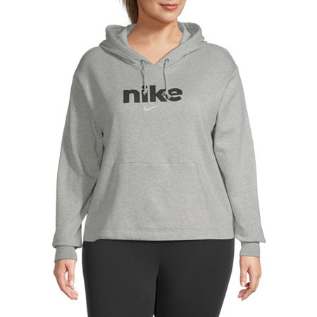 Nike Womens Hooded Neck Long Sleeve Hoodie Plus, 3x , Gray