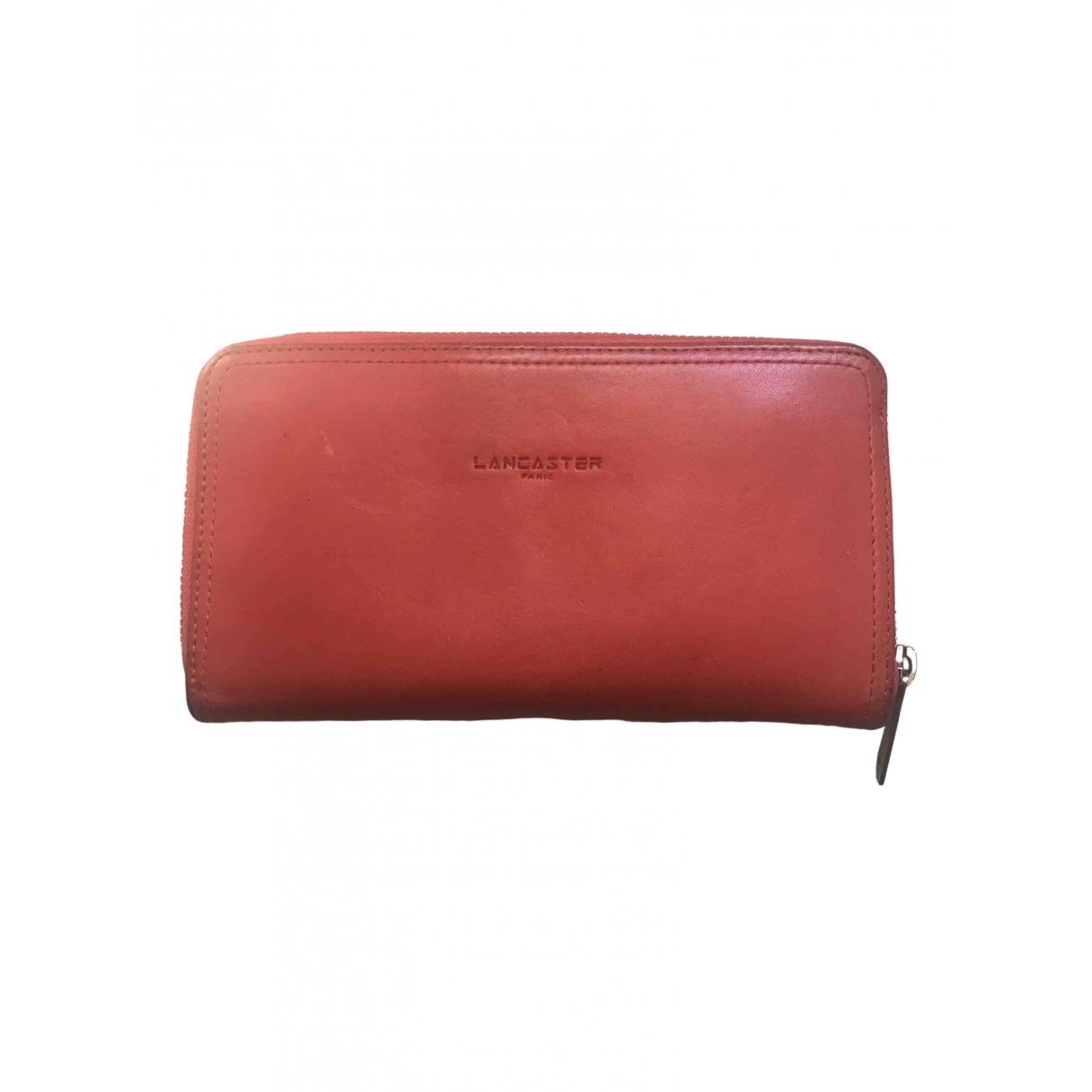 Lancaster - Portefeuille   pour femme en cuir - rouge