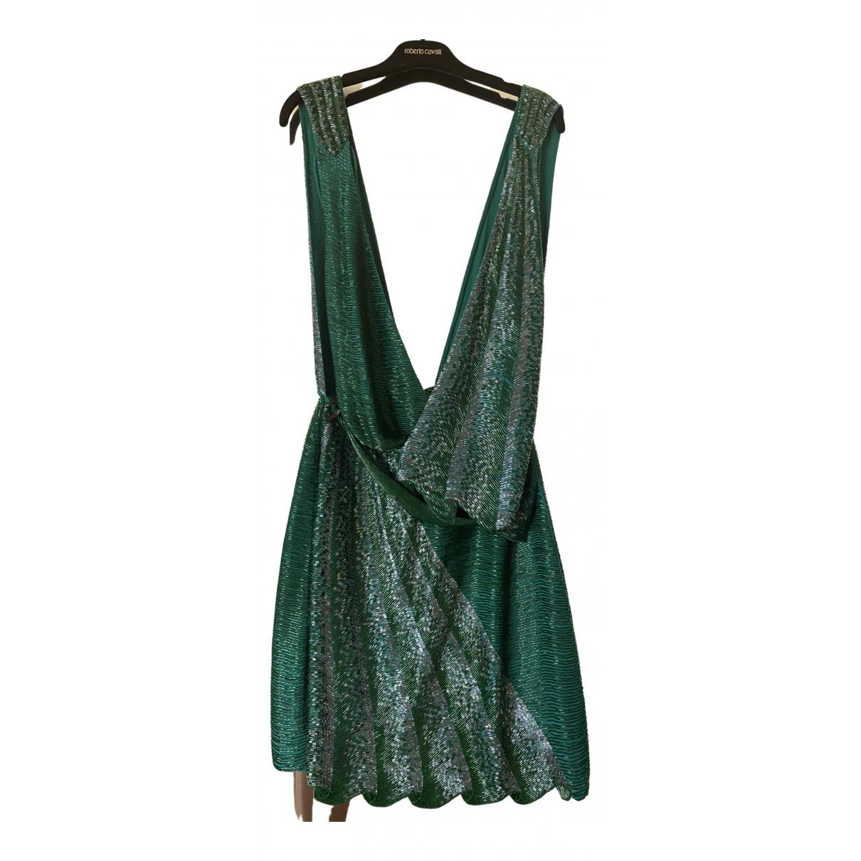 Roberto Cavalli \N Kleid in  Gruen Mit Pailletten