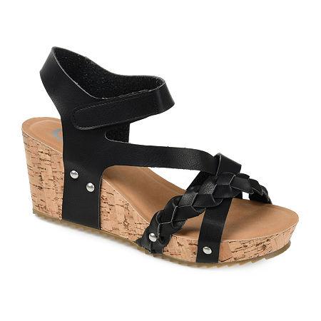 Journee Collection Womens Gizel Pumps Wedge Heel, 11 Medium, Black