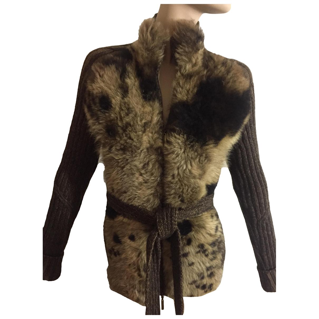 Roberto Cavalli N Brown Wool Knitwear for Women XS International