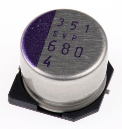Panasonic 680μF Polymer Capacitor 4V dc, Surface Mount - 4SVP680M (5)