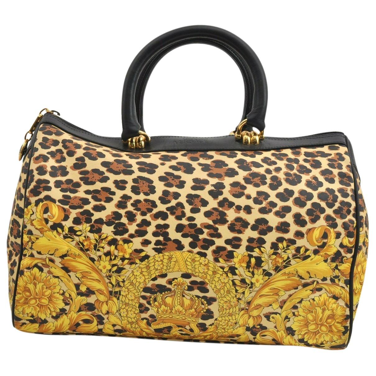 Gianni Versace \N Handtasche in  Gelb Leder