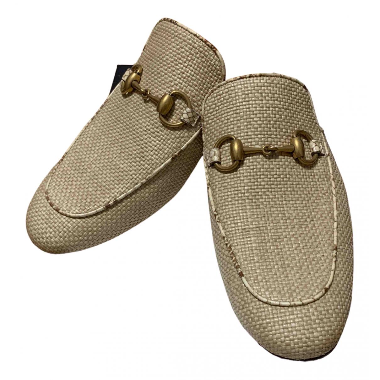Gucci - Sandales   pour homme en cuir - beige