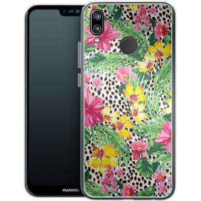 Huawei P20 Lite Silikon Handyhuelle - Tropical Cheetah von caseable Designs