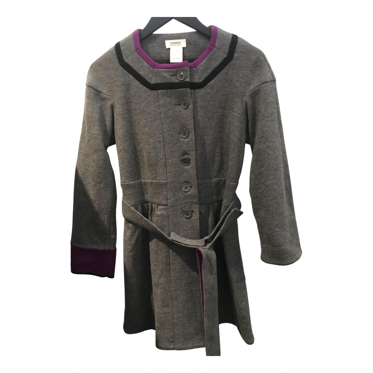 Sonia By Sonia Rykiel - Manteau   pour femme en laine - gris