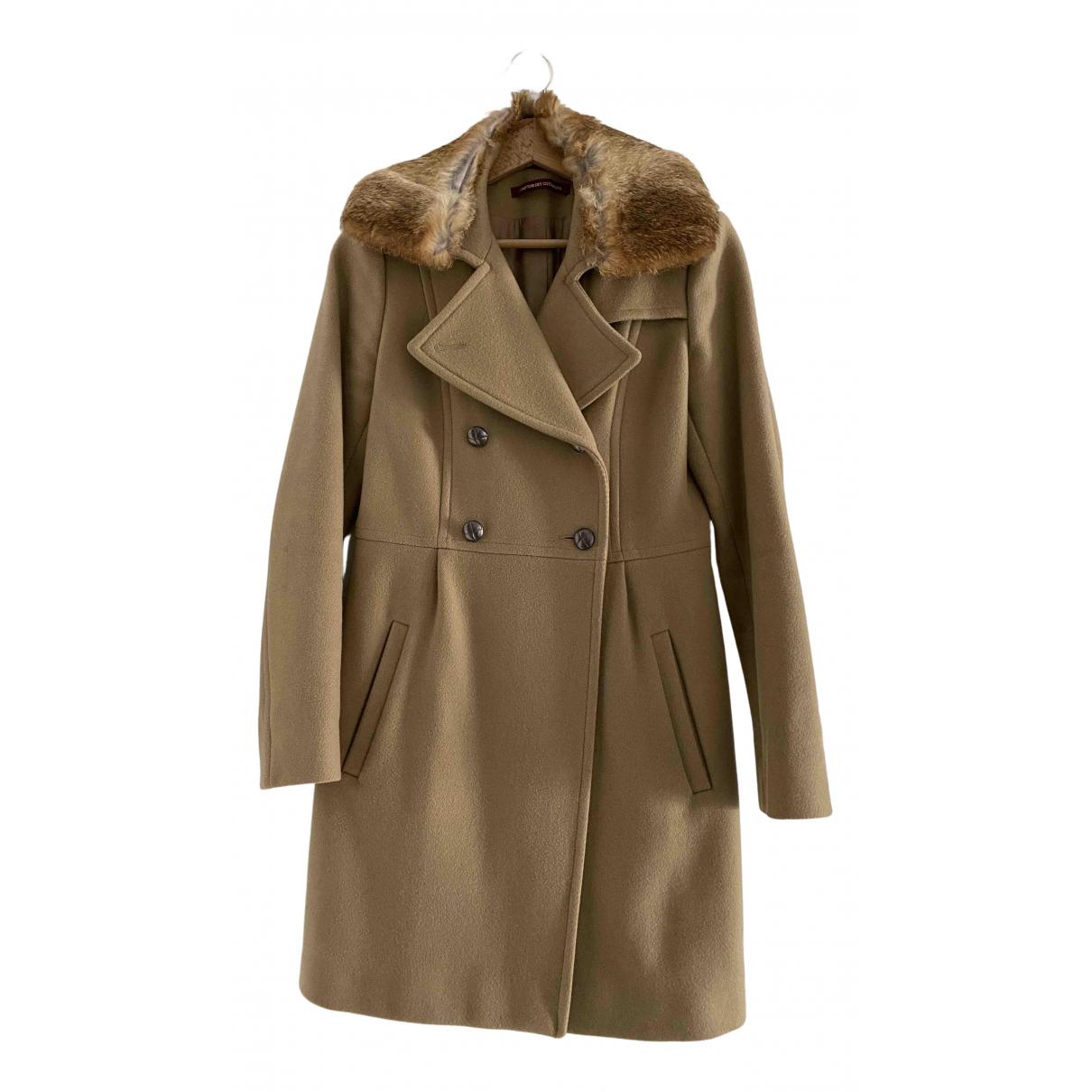 Comptoir Des Cotonniers N Beige Wool coat for Women 36 FR
