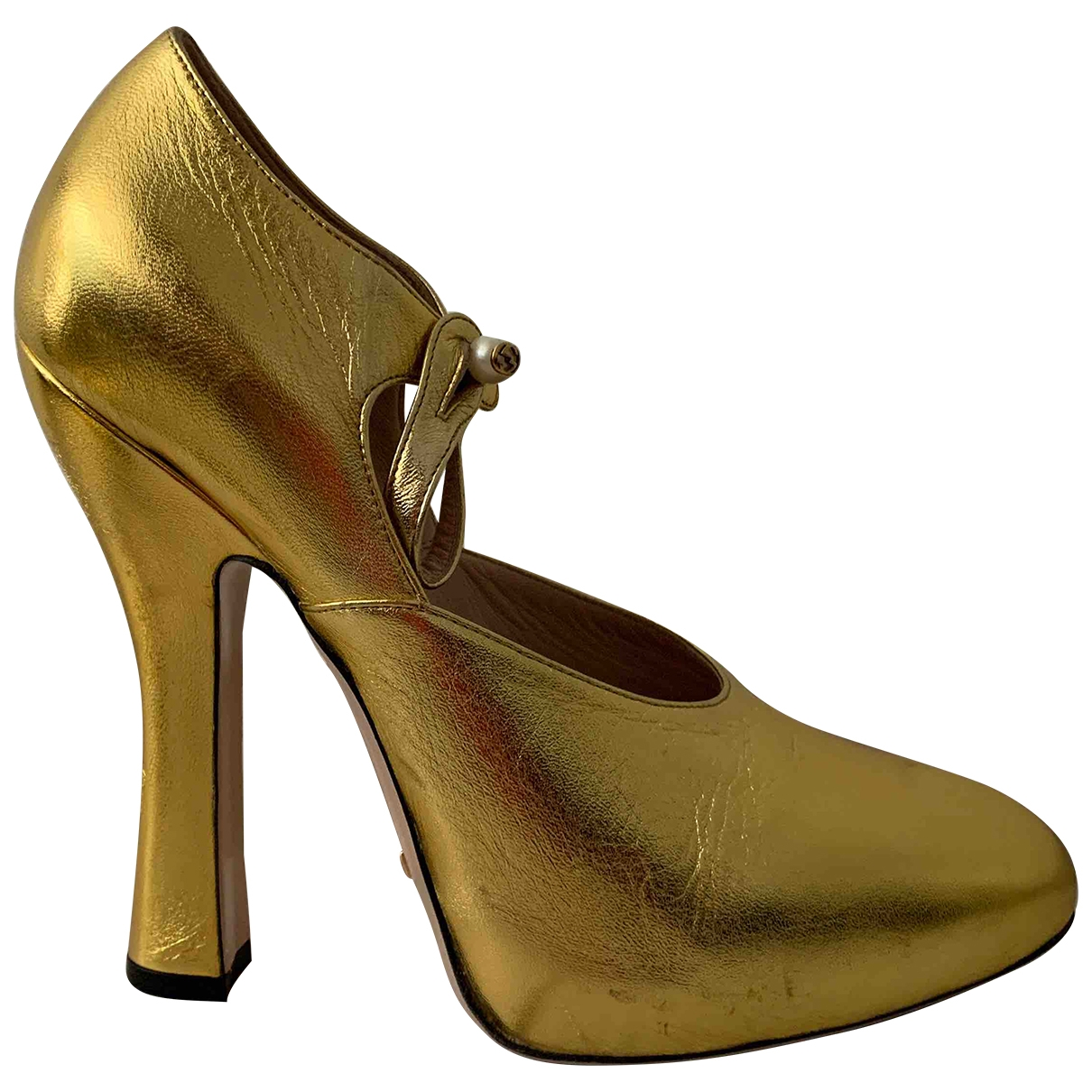 Gucci \N Gold Leather Heels for Women 40 EU