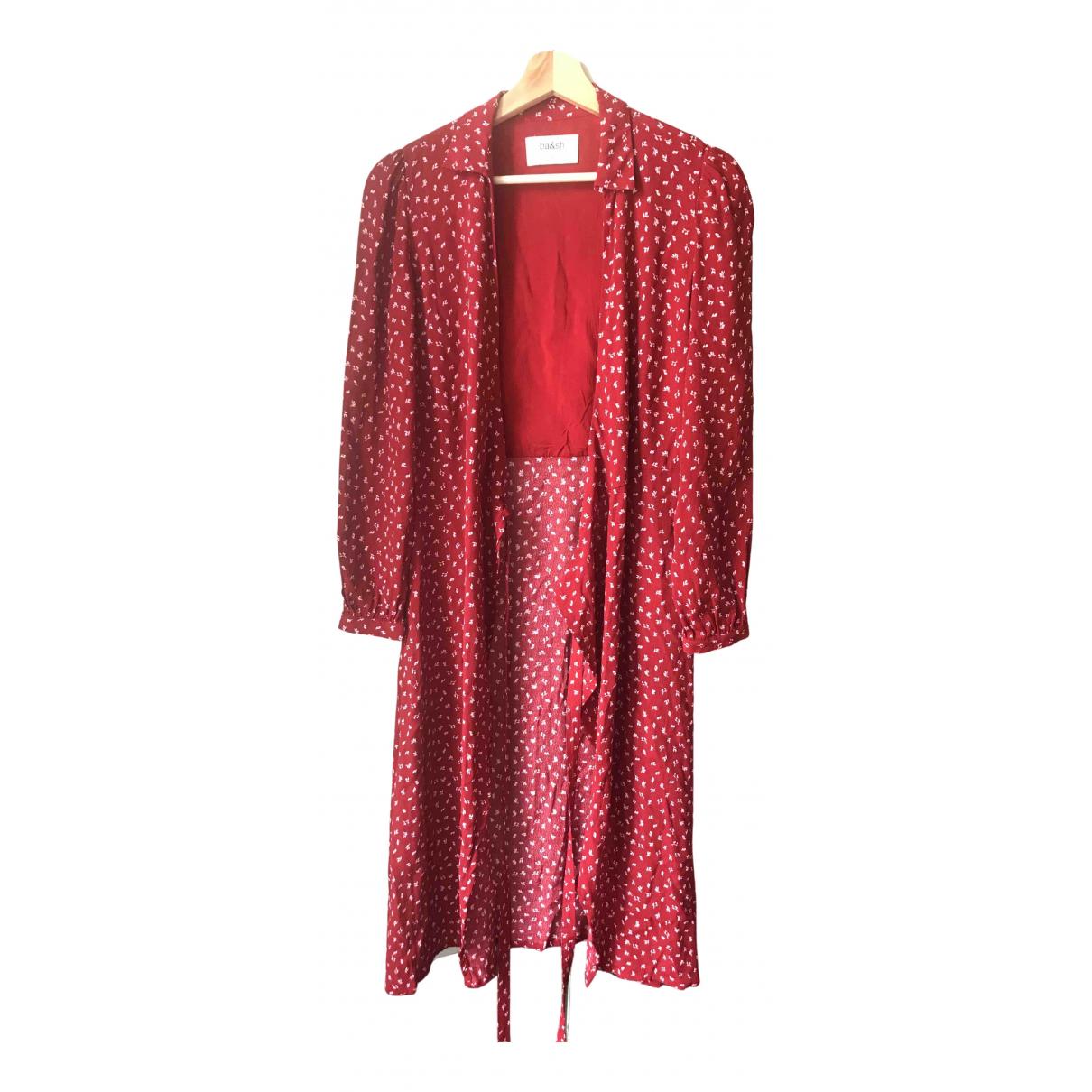 Ba&sh \N Kleid in  Rot Baumwolle