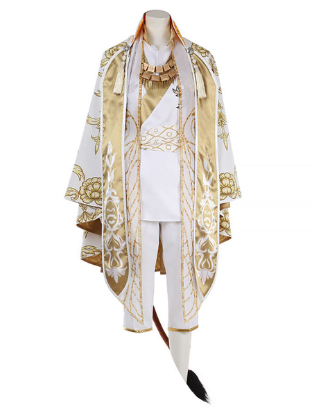 Milanoo Savanaclaw Leona Cosplay Costume Disney Twisted-Wonderland Polyester Fabric Game Cosplay Costume