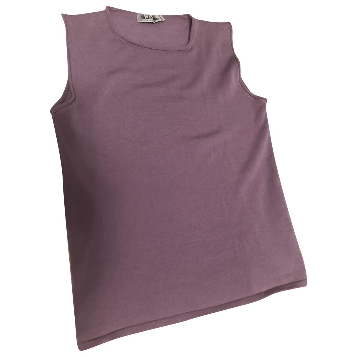 Valentino Garavani - Top   pour femme en laine - violet