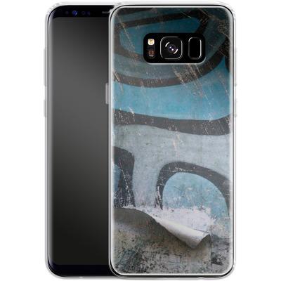 Samsung Galaxy S8 Silikon Handyhuelle - Texture Pacificwall von Brent Williams