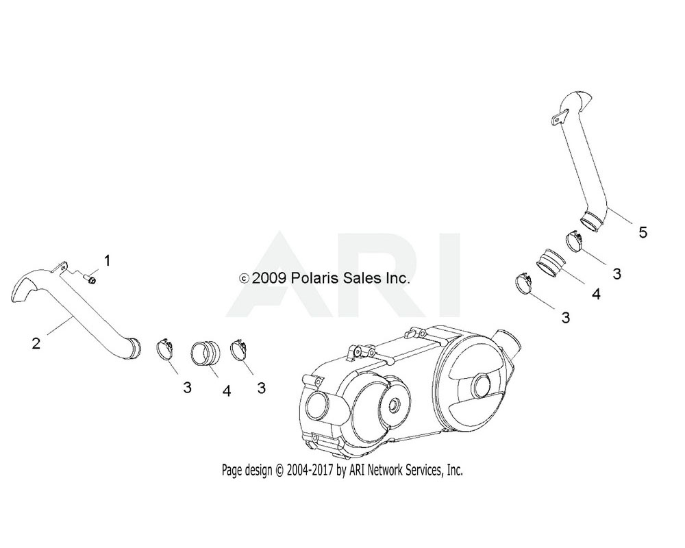 Polaris OEM 0454356 DUCT, AIR OUTLET