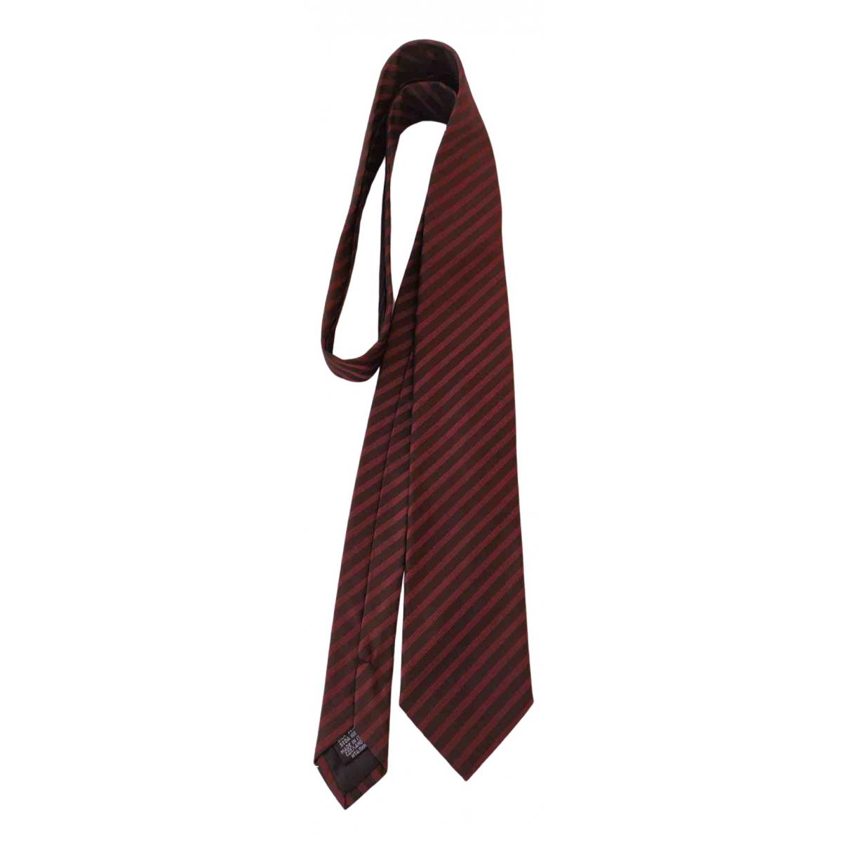 Boss \N Krawatten in  Bordeauxrot Seide