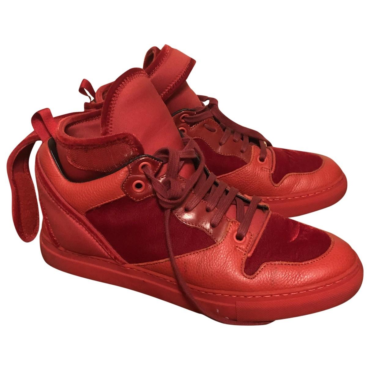 Balenciaga - Baskets   pour femme en cuir - rouge