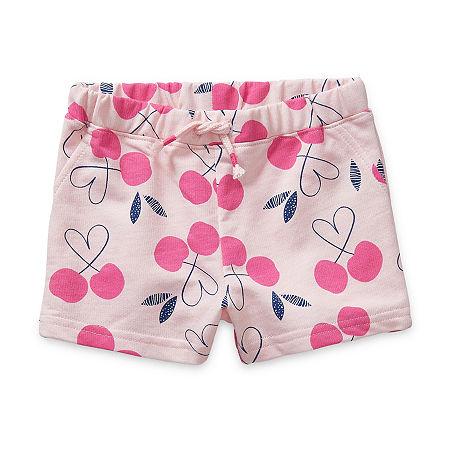 Okie Dokie Baby Girls Pull-On Short, Newborn , Pink