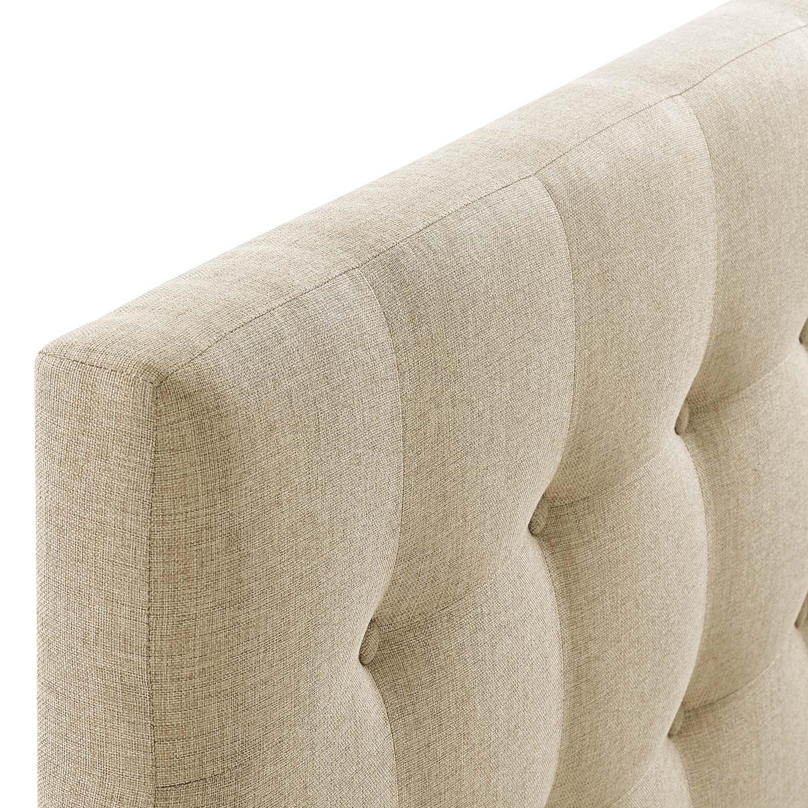 Emily Queen Upholstered Fabric Headboard in Beige