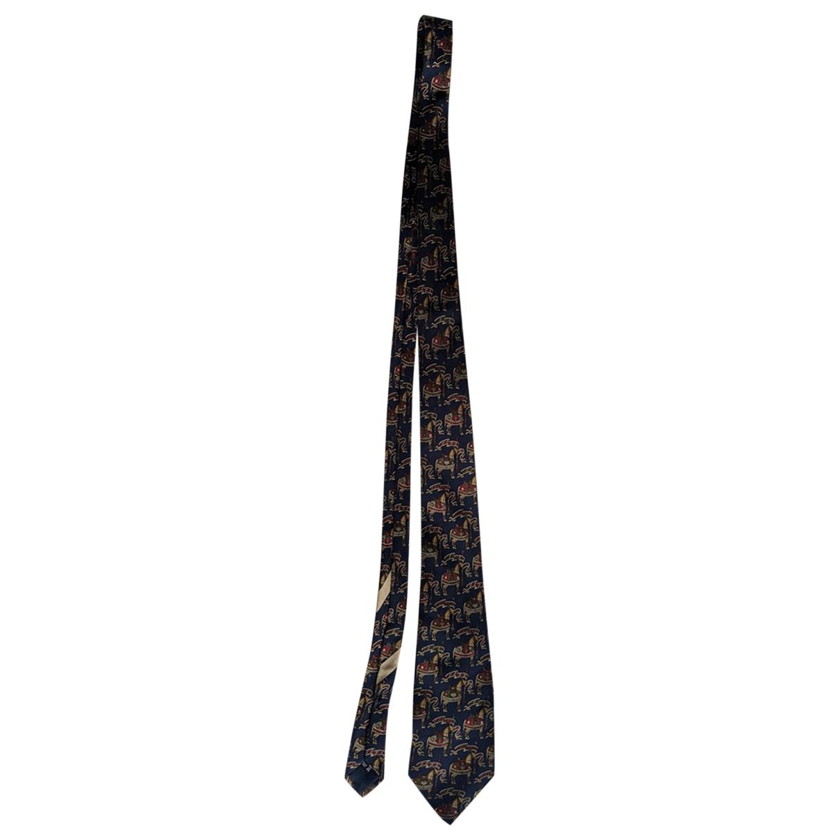 Salvatore Ferragamo - Cravates   pour homme en soie - marine