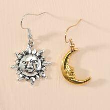 Ohrringe mit Mond & Sonne Anhaenger