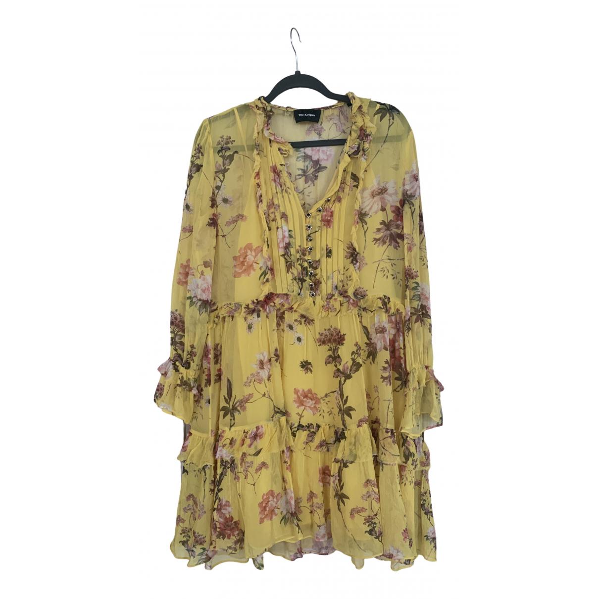 The Kooples - Robe   pour femme en soie - jaune