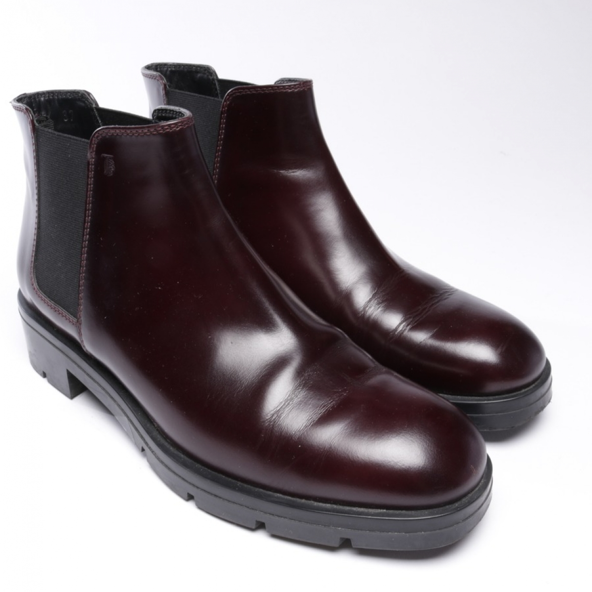 Tod's \N Red Leather Ankle boots for Women 37 EU