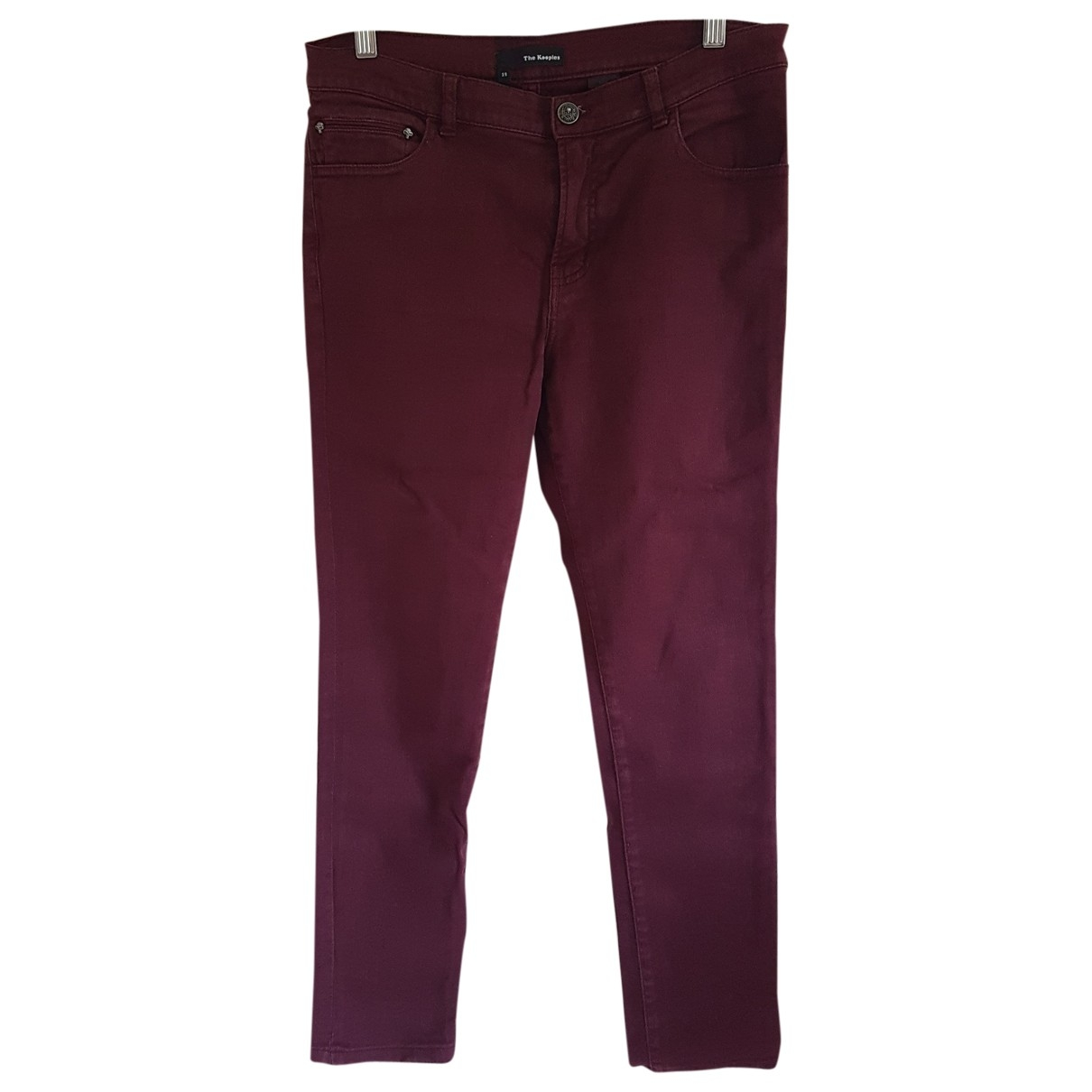 The Kooples \N Burgundy Cotton - elasthane Jeans for Women 29 US
