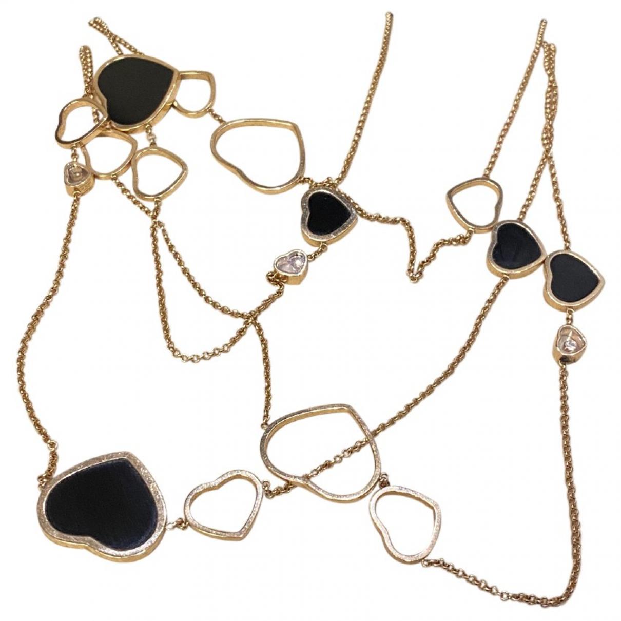 Collar Happy Hearts de Oro rosa Chopard
