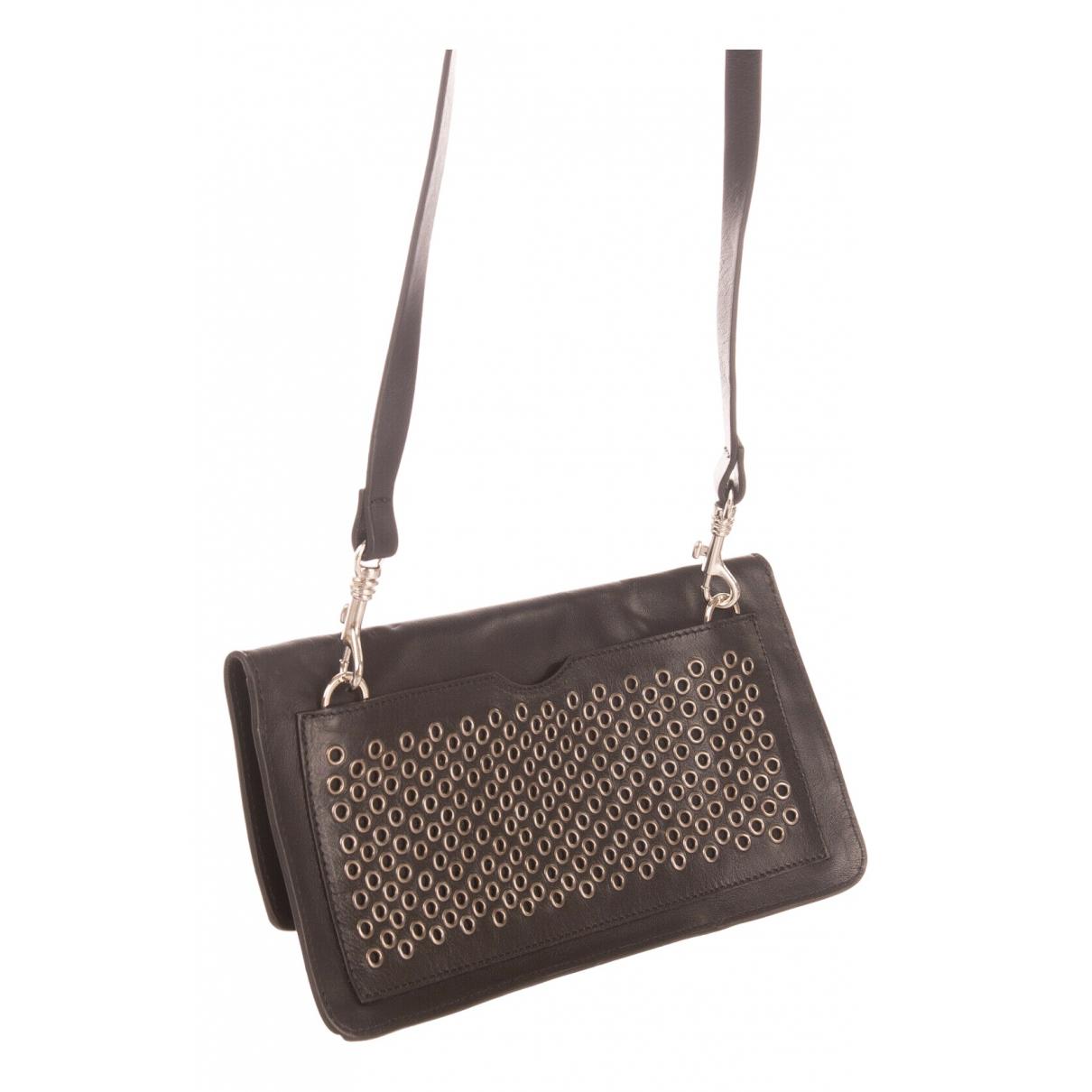 Diesel Black Gold \N Black Leather Clutch bag for Women \N